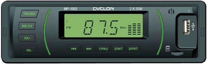 Автомагнитола CYCLON MP-1002G