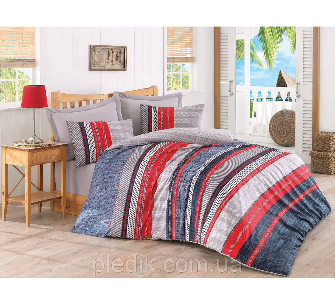 Купить Двуспальное постельное бельё 200х220 Cotton box Ранфорс VERA MAVI