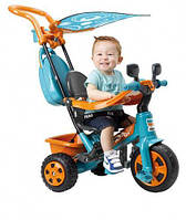 Детский трехколесный велосипед 800003923 Feber Baby Plus Music, оранжево-голубой