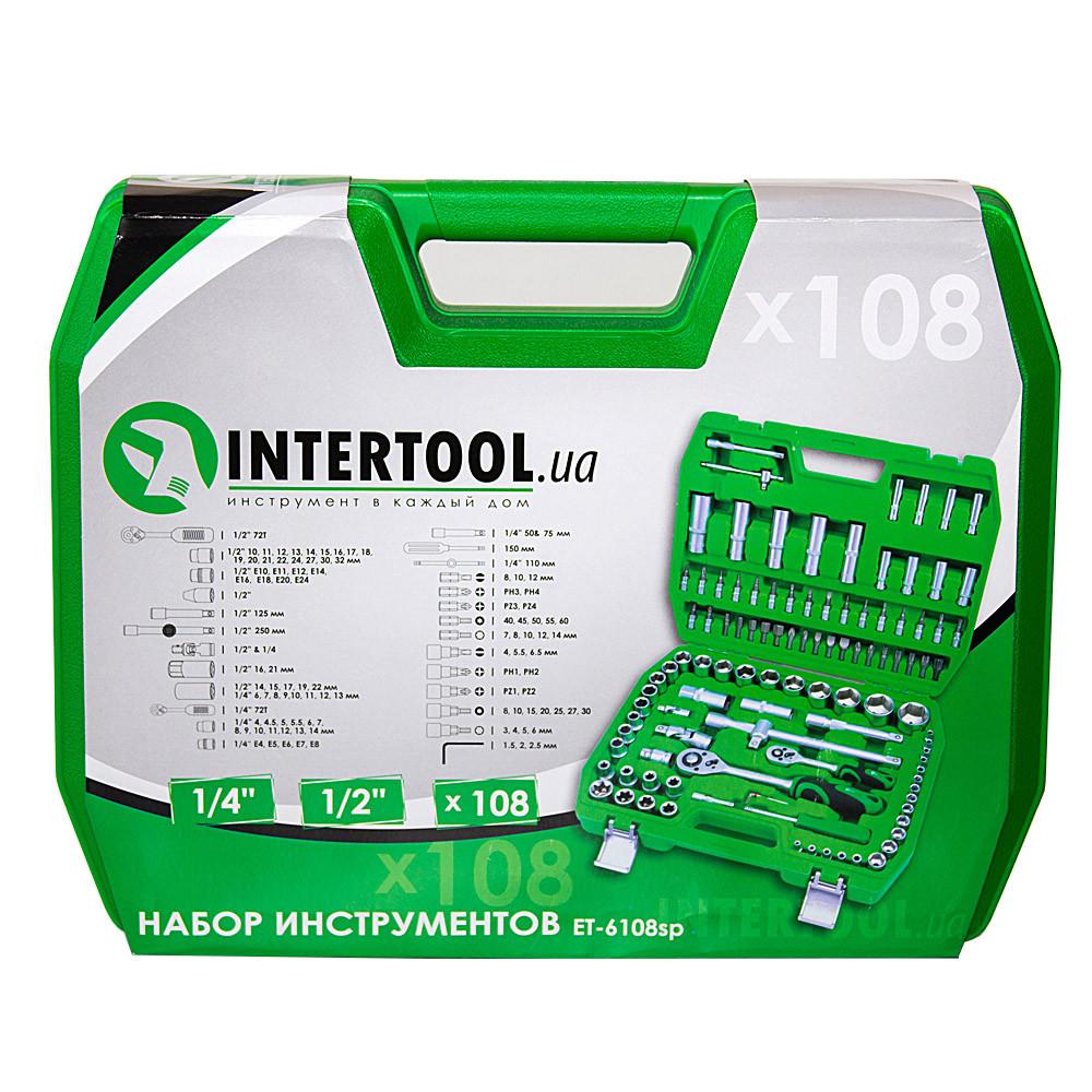 Набор инструментов 108 предметов Intertool ET-6108SP