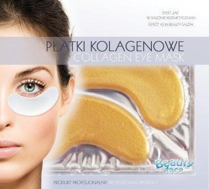 Коллагеновая маска под глаза с золотом и гиалуроновой кислотой BeautyFace