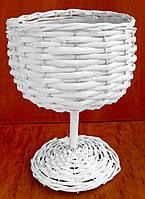 Декоративная корзина кубок из бамбука 28 см