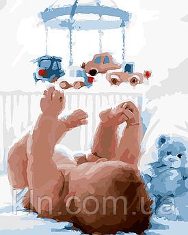 Картина по номерам ArtStory Первая игрушка 40 х 50 см (арт. AS0093)