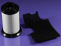 Набор фильтров (HEPA 11) цилиндрический + выходной для пылесоса Zanussi ZF134 (9001664656)