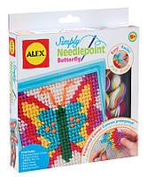 Набор для вышивания с безопасной иглой - Бабочка, Alex
