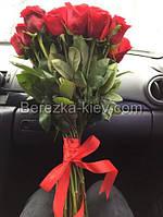 Букет красных роз 35 шт.
