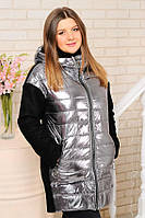 Куртка женская плащевка «Монклер», утеплитель - силикон (весна)