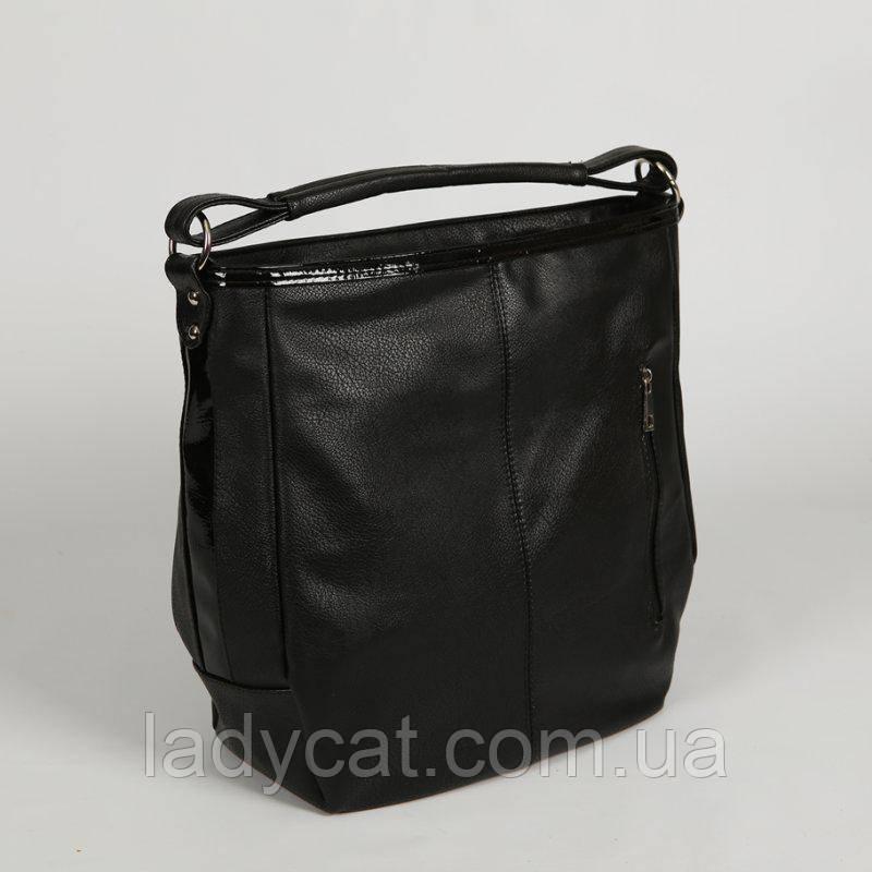 8b529ae8883d Стильная женская сумка черного цвета из кожзама: продажа, цена в ...