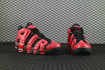 "Кроссовки Nike Air More Uptempo ""Black/Red"", фото 3"