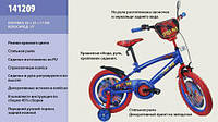Детский  Велосипед 2-х колес 12'' 141209 со звонком, зеркалом, с вставками в колесах