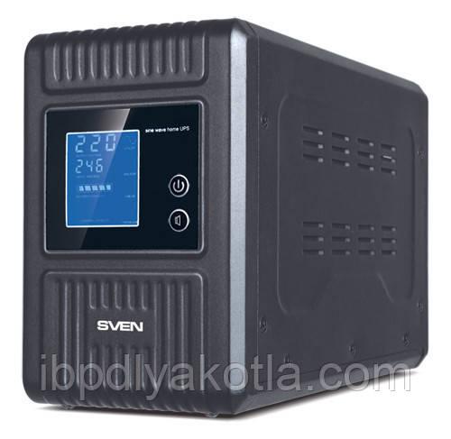 ИБП Sven Reserve Home-1000 (600Вт), для котла, чистая синусоида, внешняя АКБ