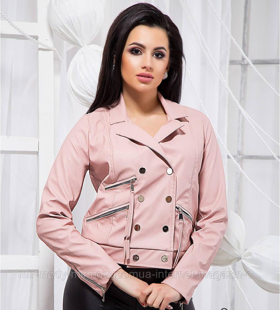 Элегантная короткая куртка - 19380 БЛ