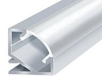 Алюминиевый профиль ПРЕМИУМ для светодиодной ленты угловой округлый