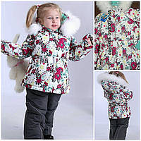 Donilo 98,104 зимние  куртка и комбинезон для девочки 3397