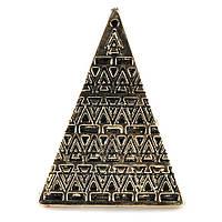 Кольцо Пирамида под бронзу
