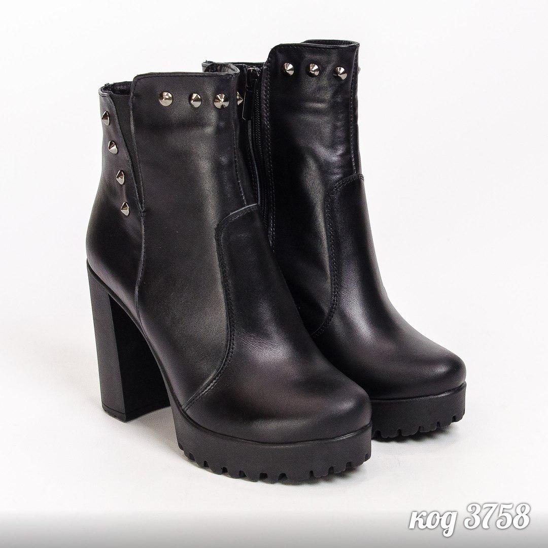 40р Ботильоны ботинки женские деми черные кожаные на каблуке,из натуральной  кожи,натуральная кожа eb5d7e78d67