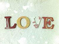 LOVE слово для декора