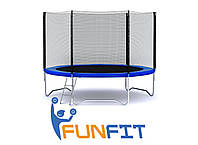 Батут FunFit 252 см c сеткой + лестница