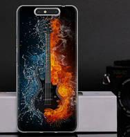Чехол силиконовый бампер для ZTE Blade V8 с рисунком гитара