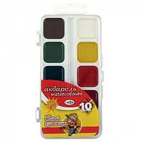 Краски акварельные Гамма Юный художник 10 цветов в пластиковой упаковке