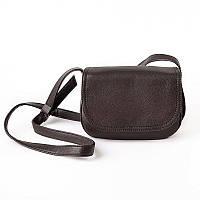 Женская сумочка кросс-боди коричневого цвета с искусственной кожи