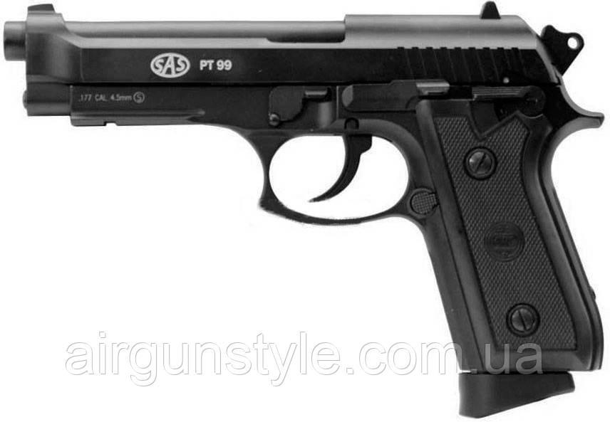 Пістолет пневматичний SAS PT99 Blowback (Taurus) [KMB-15AHNS]