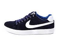 Мужские кожаные кеды Nike Blue, фото 1