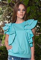 Женская летняя блуза с рюшами Colibri (разные цвета)