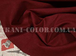Ткань лён стрейч бордовый