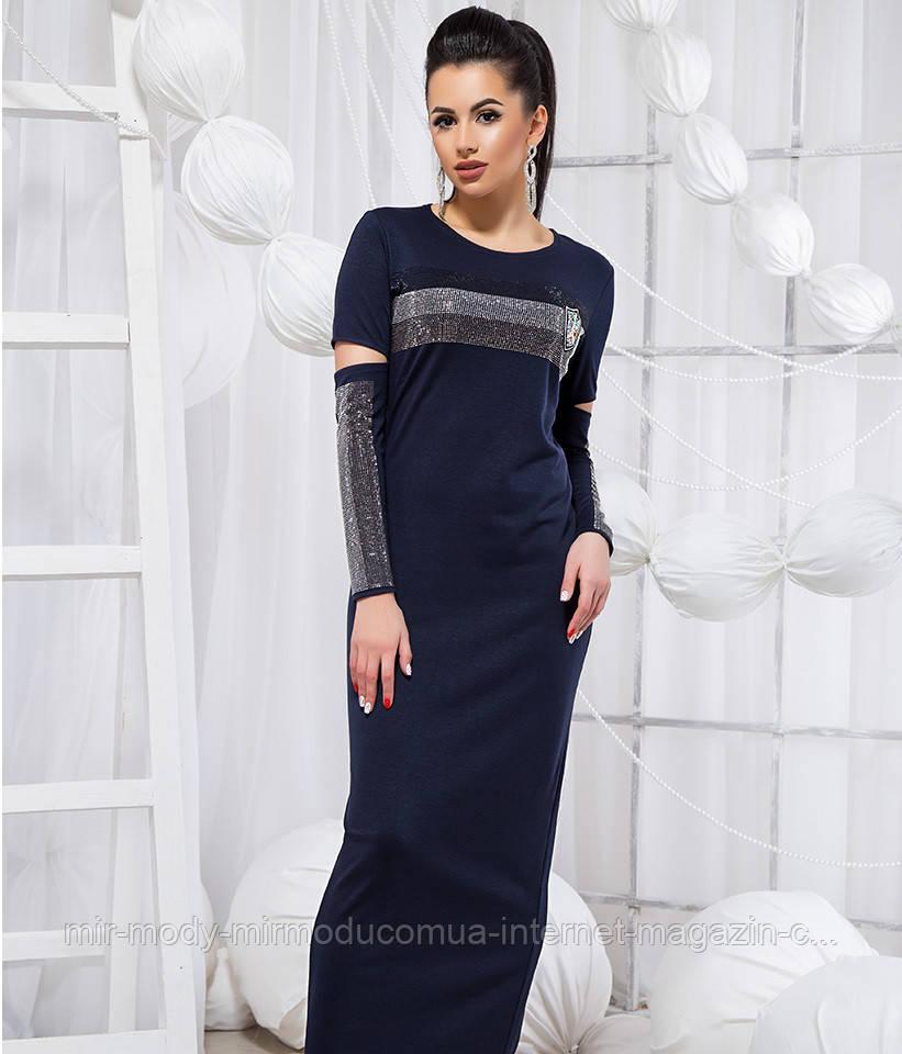 Стильное платье в пол - 19251 БЛ