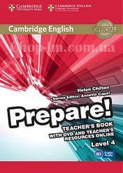 Cambridge English Prepare! 4 Teacher's Book with DVD and Teacher's Resources Online / Книга для учителя