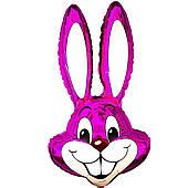 Фольгированные шары большие фигуры  фигура  кролик малиновый 95 см FlexMetal