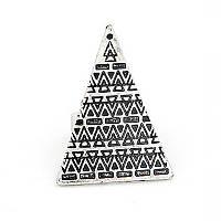 Кольцо Пирамида под серебро