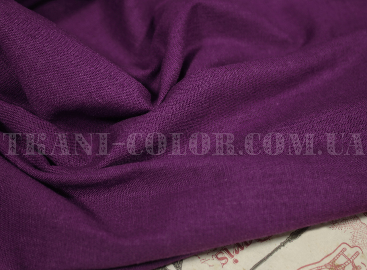 Ткань лён стрейч фиолетовый