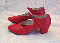 Туфли народные красные на раздельной подошве