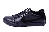 Мужские кожаные кеды Nike Black leather