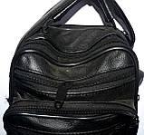 Мужская черная барсетка на плечо 16*23 см, фото 2
