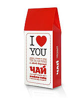 """Подарочный чай """"Я тебя люблю"""" для любимых, 100г"""