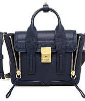 Женская сумка в стиле PHILLIP LIM MINI PASHLI Navy Blue (6411), фото 1