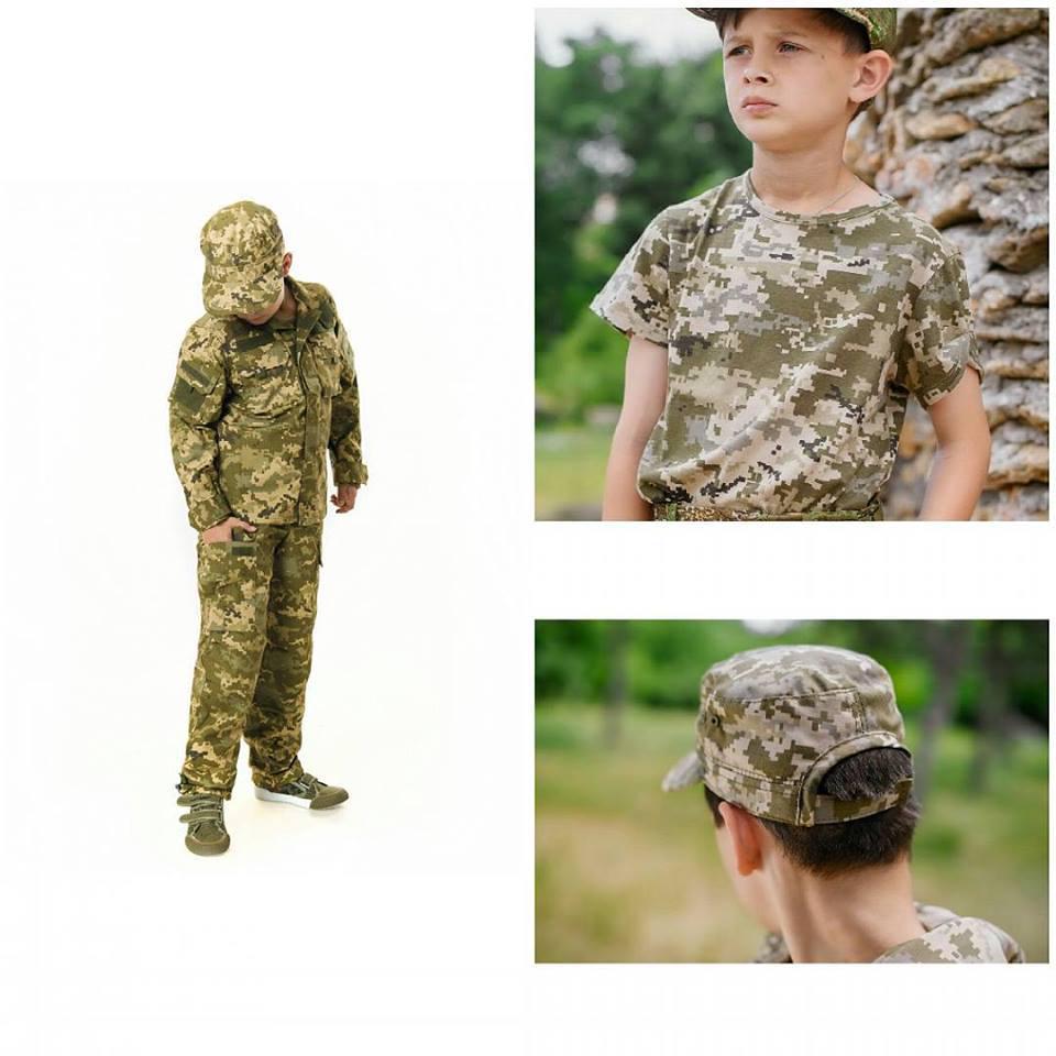 Комплект Киборг костюм кепка футболка камуфляж Пиксель