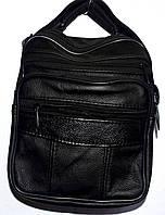 Мужская черная барсетка на плечо 16*23 см, фото 1