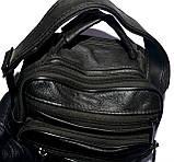 Мужская черная барсетка на плечо 16*23 см, фото 3