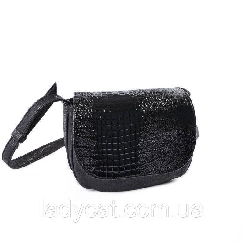 21ea021ffd06 Женская маленькая черная сумочка под кожу питона , цена 305 грн ...