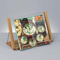 Подставка под книгу из бамбука и стекла, фото 1