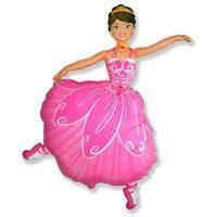 Фольгированные шары большие фигуры  фигура Балерина 67*100 см FlexMetal