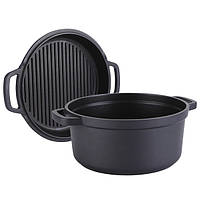 Кастрюля + сковорода-гриль Maestro MR-4128 | сковородка с антипригарным покрытием Маэстро | кастрюля Маестро