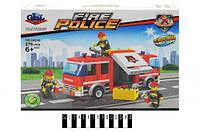 """Конструктор аналог lego Brick """"Пожарная машина"""" KY98207  29х19х4,5 см."""