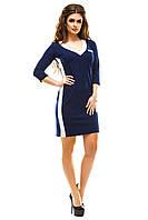 Женское синее короткое платье