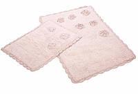 Набор ковриков для ванной Irya Blossoms 60*90+40*60 розовый