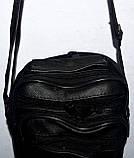 Мужская черная барсетка через плечо под кожу 13*19 см, фото 2